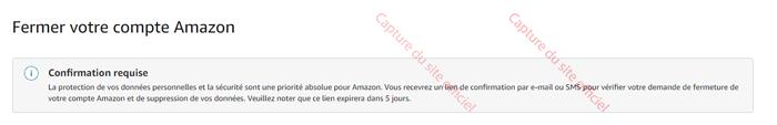 Fermer votre compte Amazon