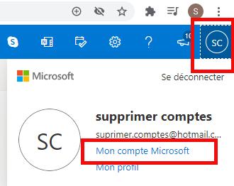 Supprimer un compte Microsoft Outlook