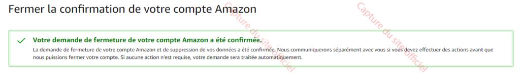 le compte Amazon est annulé