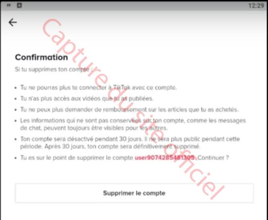 Supprimer Tiktok sur Android
