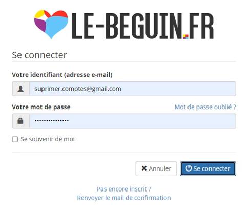 Se connecter à LeBeguin