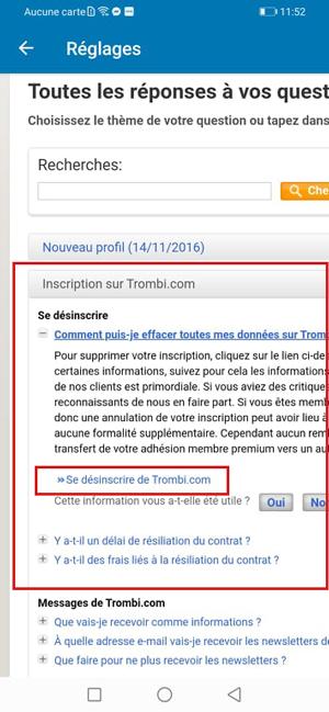 Se désinscrire de Trombi.com