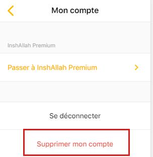 Supprimer un compte Inchallah.com