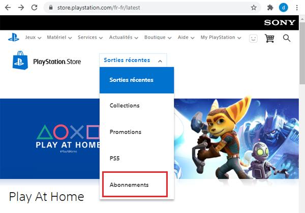 Annuler un abonnement Fortnite sur PS4