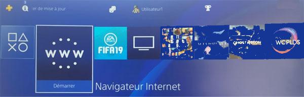 navigateur internet PS4