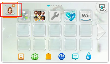 Icône de profil Mii Wii U