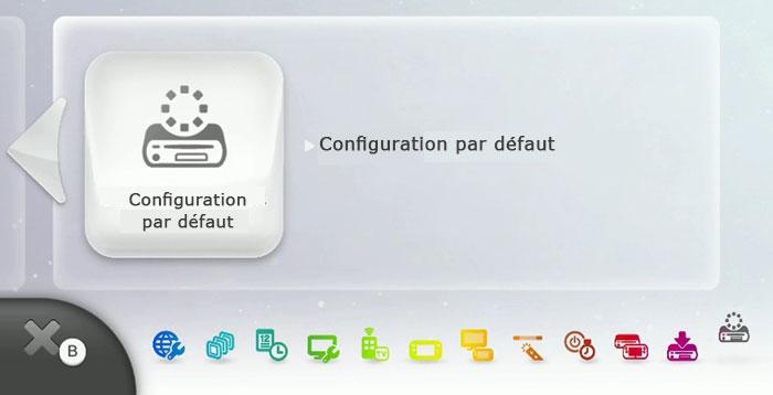 Réinitialiser une Wii U