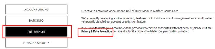 Désactiver le compte Activision Call of Duty mobile