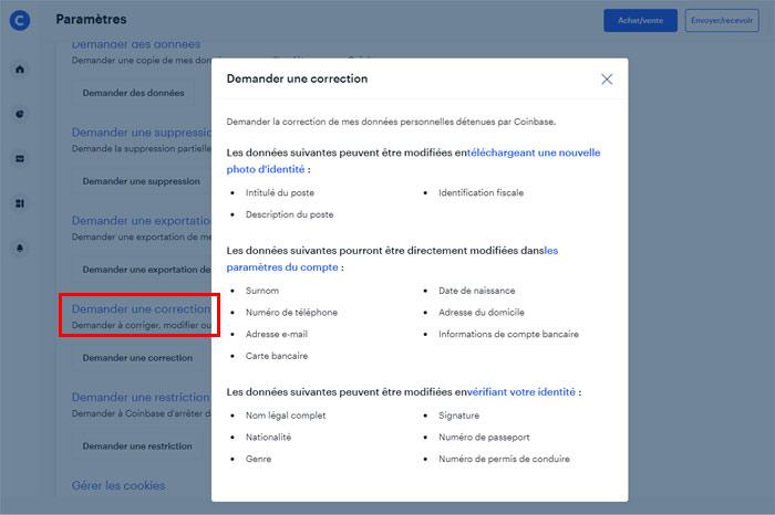 Mettre à jour et débloquer un compte Coinbase soumis à restriction