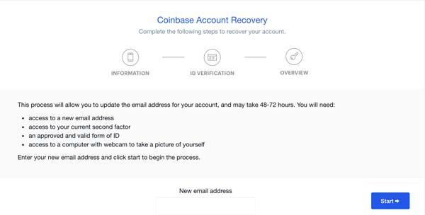 Récupérer un compte Coinbase piraté ou desactivé