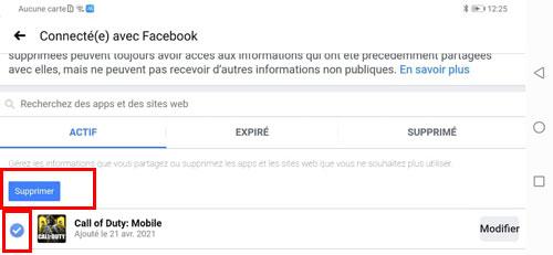 Supprimer un compte Call of Duty Mobile lié à Facebook
