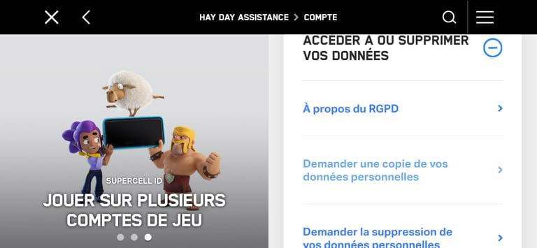 Contacter le service Client Hay Day