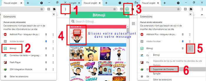 Ajouter ou supprimer le compte Bitmoji sur un ordinateur