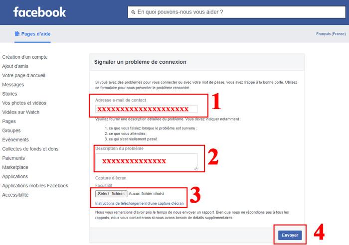 Récupérer un compte Facebook à problème de connexion